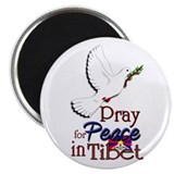"Pray for Peace in Tibet - 2.25"" Magnet (10 pack)"