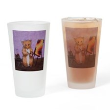 Artist Erica Woodhill Whiskers Drinking Glass