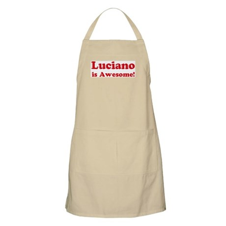 Luciano is Awesome BBQ Apron
