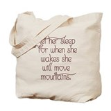 Let her sleep Tote Bag