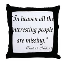 Friedrich Nietzsche Throw Pillow
