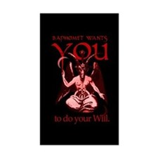 Baphomet Wants You Rectangle Decal