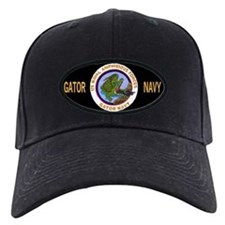 Black Gator Navy Baseball Cap