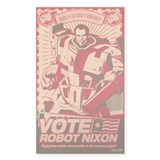 all hail robot nixon Rectangle  Aufkleber