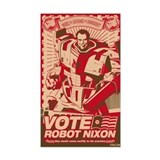 all hail robot nixon Rectangle Decal