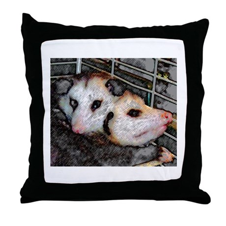 Possum Love Throw Pillow