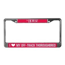 I Love My Off-Track Tbred License Plate Frame