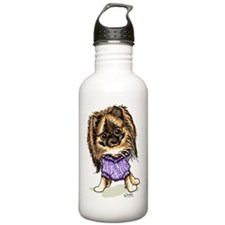 Plum Cute Pomeranian Water Bottle
