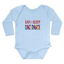 Eat Sleep Line Dance Long Sleeve Infant Bodysuit