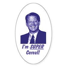 Al Gore - I'm Super Cereal! Oval Decal