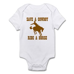 Save A Cowboy Infant Bodysuit
