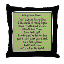 Hug from Home Throw Pillow