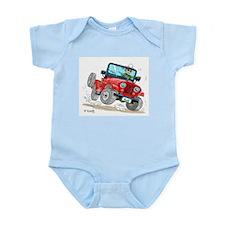 Willys-Kaiser CJ5 jeep Infant Bodysuit