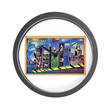 San Diego California Greetings Wall Clock