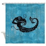 mermaid-worn_b.jpg Shower Curtain