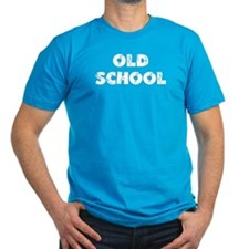 "Black ""Old School"" Black T-Shirt T-Shirt"
