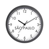 SAO PAULO Modern Newsroom Wall Clock