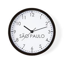 SAO PAULO Modern Newsroom Wall Clock