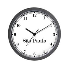 Sao Paulo Classic Newsroom Wall Clock