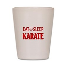 Eat Sleep Karate Shot Glass