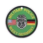 U S Military Police West Germany Ornament (Round)