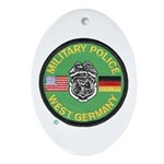 U S Military Police West Germany Ornament (Oval)