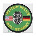 U S Military Police West Germany Tile Coaster