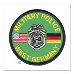 U S Military Police West Germany Square Car Magnet