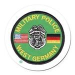 U S Military Police West Germany Round Car Magnet