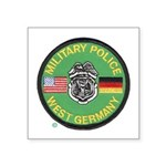 U S Military Police West Germany Square Sticker 3