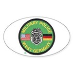 U S Military Police West Germany Sticker (Oval 50