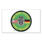 U S Military Police West Germany Sticker (Rectangl