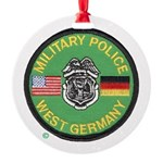U S Military Police West Germany Round Ornament