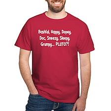 Pluto the Eighth Dwarf Dark Red T-Shirt