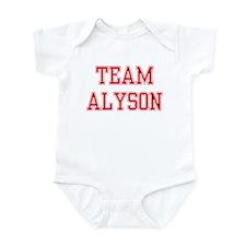 TEAM ALYSON  Infant Bodysuit