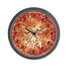 Pepperoni Pizza Wall Clock