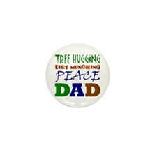 Tree Hugging Peace Dad Mini Button (10 pack)