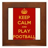 Keep Calm Play Football Framed Tile