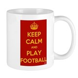 Keep Calm Play Football Small Mug
