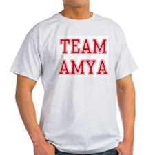 TEAM AMYA  Ash Grey T-Shirt
