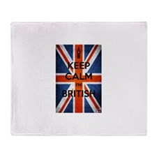 Keep Calm I'm British Throw Blanket