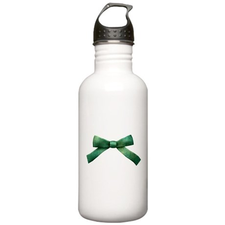 Green Bow Tie Stainless Water Bottle 1.0L