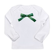 Green Bow Tie Long Sleeve Infant T-Shirt