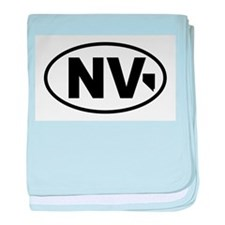 Nevada Map baby blanket