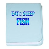 Eat Sleep Fish baby blanket