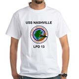 White USS NASHVILLE T-Shirt