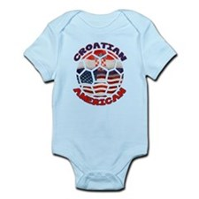 Croatian American Soccer Fan Infant Bodysuit