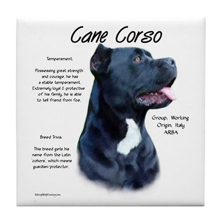 Cane Corso Tile Coaster