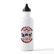 Croatian American Soccer Fan Water Bottle