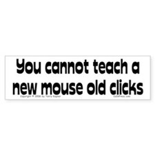 Mouse/Clicks(Cheese) Bumper Bumper Sticker